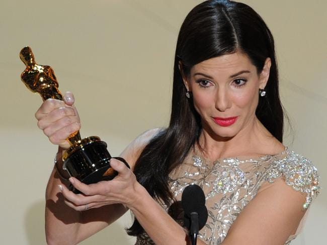 Sandra Bullock gives her acceptance speech at the 82nd Academy Awards.