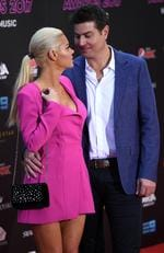 Sophie Monk and Stu Laundy arrive on the red carpet for the 31st Annual ARIA Awards 2017 at The Star on November 28, 2017 in Sydney, Australia. Picture: AAP