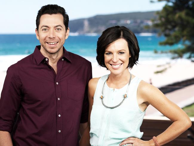 Wake Up with just James Mathison and Natarsha Belling. Picture: Channel Ten