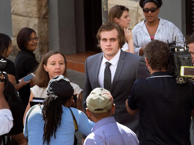 Henri Van Breda is on trial for the murder of his parents and brother. Picture: AFP/Rodger Bosch