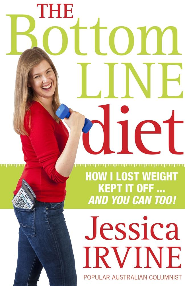 The new Jessica ... on the front cover of her new book, The Bottom Line Diet.