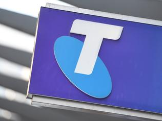 Stock images of Telstra signage in Sydney, Thursday, Feb. 16, 2017. Telstra has posted an unexpected 11.8 per cent fall in first-half profit. (AAP Image/Dean Lewins) NO ARCHIVING