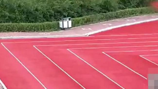 Fast times could be a problem at this Chinese running track.