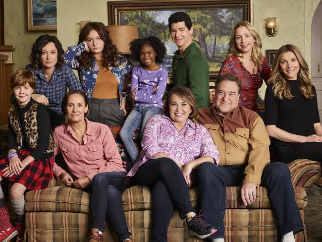 The Conner family — with a few new faces — is back on the famous couch. Picture: ABC/Robert Trachtenberg