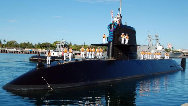 Saab group was partner in Japanese project ... The Soryu class submarine. Picture: Supplied