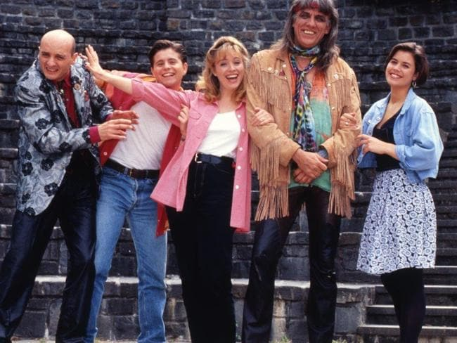 Jon English led the All Together Now cast along with Rebecca Gibney.