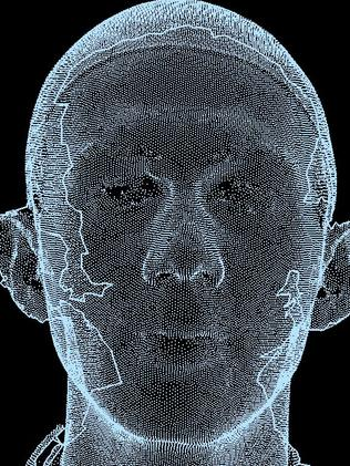 3D scan of a head. Picture: supplied