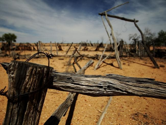 Nearly 90 per cent of Queensland is drought declared. Picture: Mark Calleja