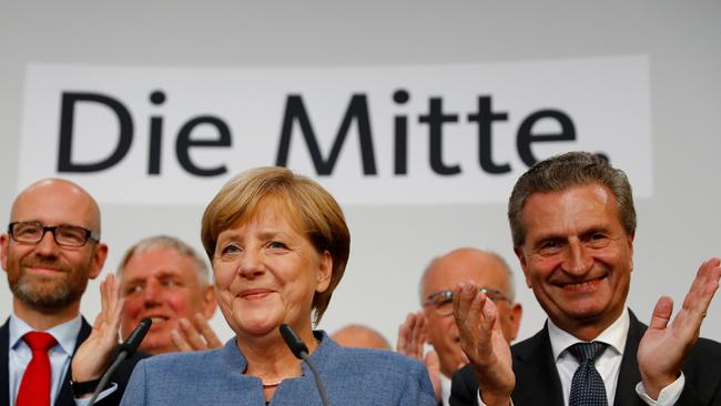 'These are turbulent times' ... German Chancellor Angela Merkel says she hopes to form a government by Christmas. Picture: Reuters