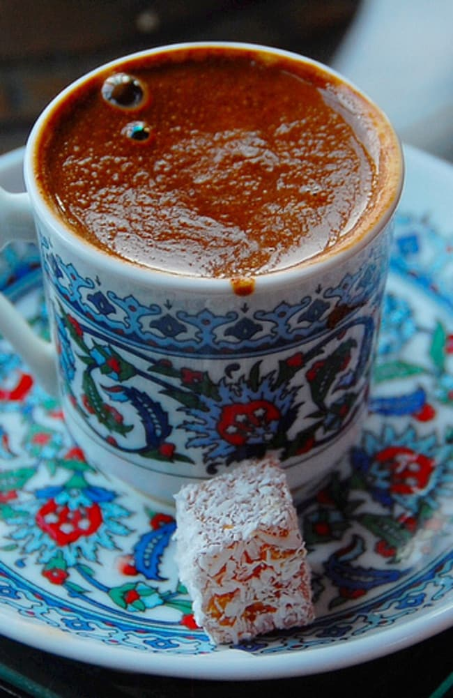 A cuppa of Turkish coffee teamed with Turkish delight and you're in foodie heaven. Picture: Flickr LWYang