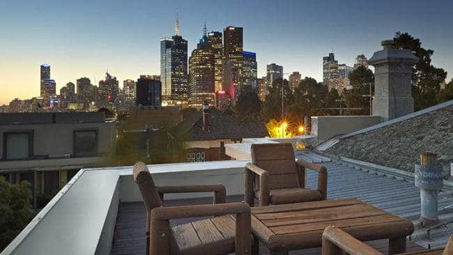 81 Wellington Parade South, East Melbourne. Balcony with city views not quite enough. There's a rooftop deck too
