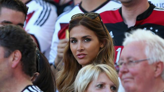 Ann-Kathrin Brommel enjoying the match.