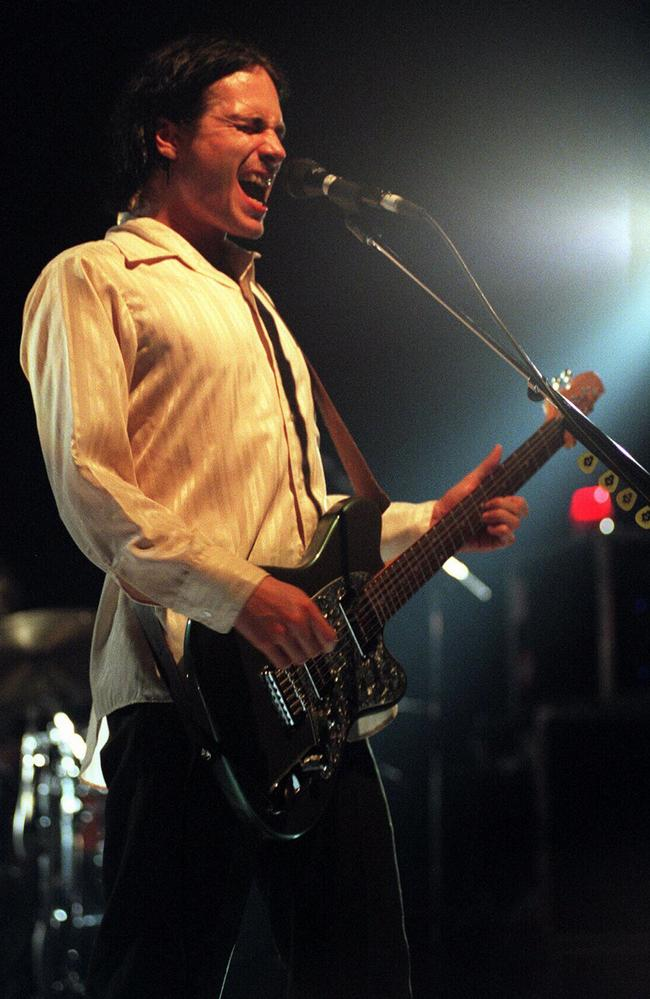Singer Jeff Buckley performing at the Enmore Theatre in Sydney on February 15, 1996.