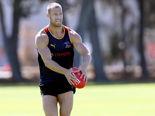 Crows training, Max Basheer Reserve. Scott Thompson Picture: Sarah Reed