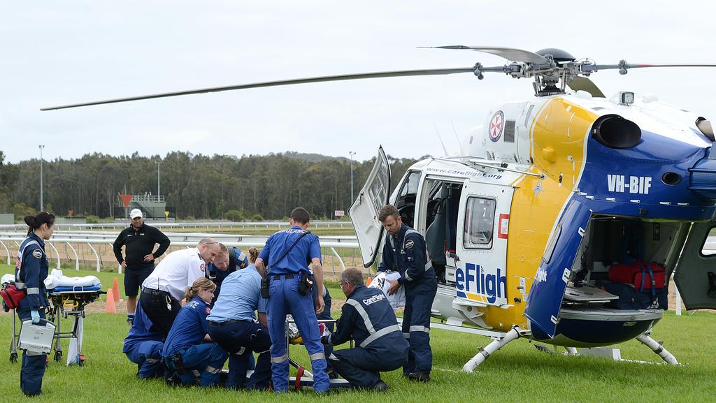 jockey airlifted to sydney with spinal injuries after. Black Bedroom Furniture Sets. Home Design Ideas