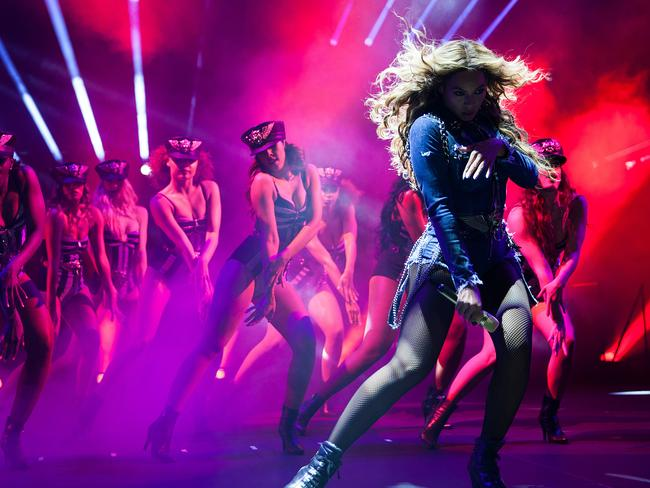 Dancing queen ... Beyonce takes to the stage in Atlanta last month. Picture: AP