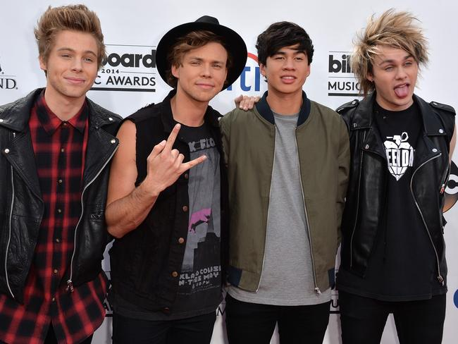 The boys attend the 2014 Billboard Music Awards in Las Vegas last month.
