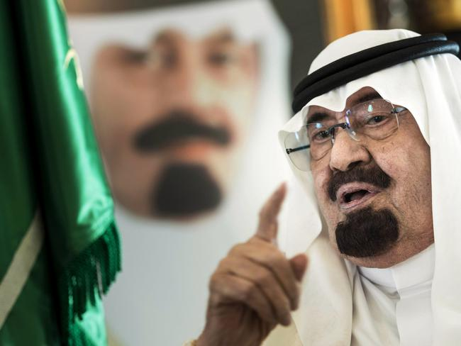 "A word of warning ... Saudi King Abdullah is ""certain"" terrorists who pose a threat to his kingdom will also reach Europe and America. Picture: Brendan Smialowski"