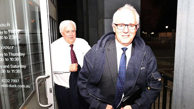 Clive Palmer with Malcolm Turnbull / Picture: Gary Ramage