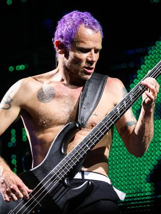 Put a shirt on, old man … Flea from RHCP.