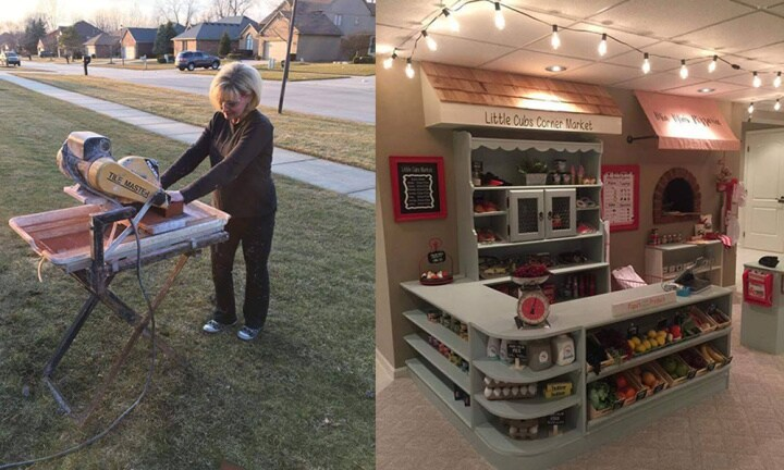 Super grandma constructs the most epic play village ever