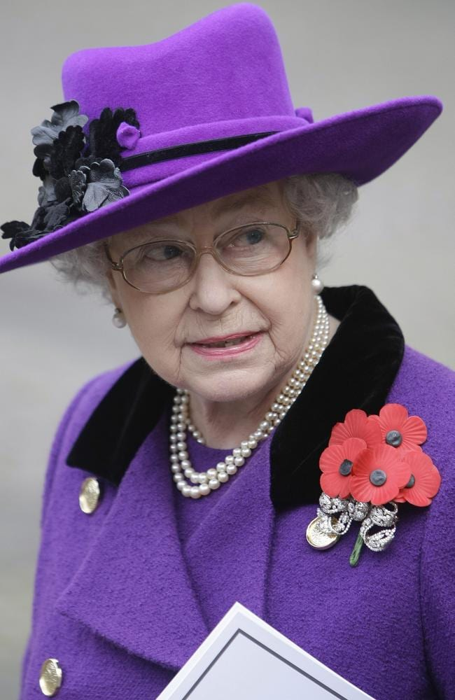 Target ... Britain's Queen Elizabeth II leaves Westminster Abbey in London in 2009, following the Remembrance Day service.