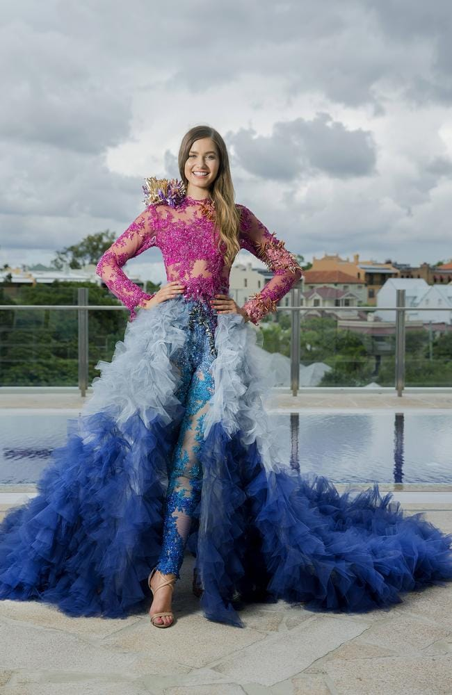 Image result for Miss Australia Caris Tiivel national costume