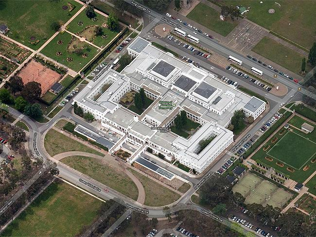 "Canberra in 3-D: #7 Museum of Australian Democracy ""Get a map and do the quiz"". Photo: Google Maps"
