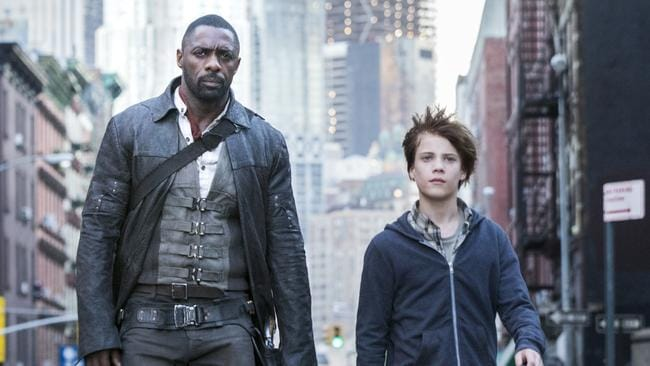 Idris Elba, left, clearly thrilled to be in the company of a major thespian like Tom Taylor.