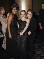 Tracee Ellis Ross, Emma Stone and Billie Jean King attend The 75th Annual Golden Globe Awards at The Beverly Hilton Hotel on January 7, 2018 in Beverly Hills, California. Picture: AFP