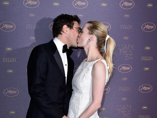 Jean-David Blanc and Melissa George arrive at the Opening Gala Dinner during the 69th Annual Cannes Film Festival, 2016.