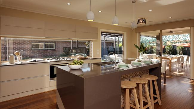 The kitchen is central to all the other areas of the home. Picture: John Fotiadis