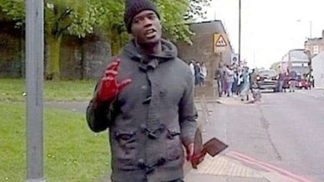 Michael Adebolajo after the attack in London. Picture: Supplied.