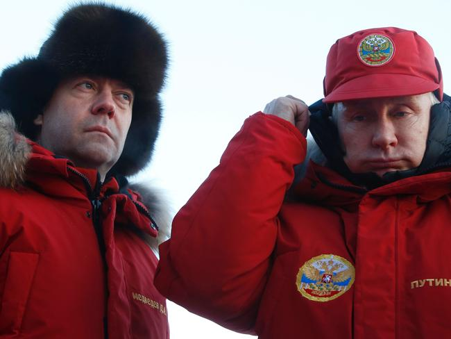 Russian President Vladimir Putin (R) and Prime Minister Dmitry Medvedev swapped jobs in 2012. Picture: AFP