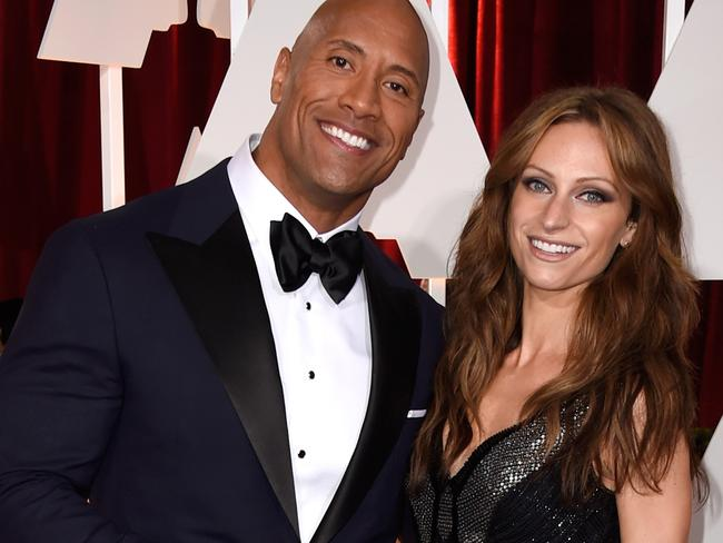 Dwayne 'The Rock' Johnson and his new love, singer Lauren Hashian. Picture: Frazer Harrison/Getty Images
