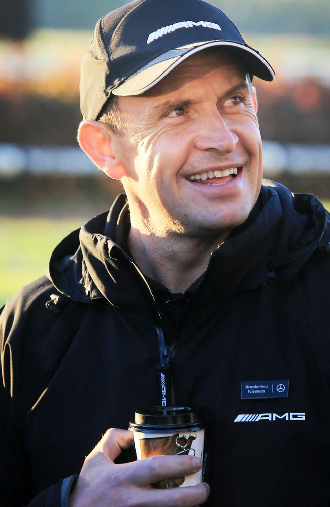 Business as usual: Trainer Chris Waller at Rosehill Gardens during the autumn carnival. Picture: Mark Evans