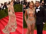 """FASHION'S event of they year has New York in a flurry as celebs don their most avant garde frocks at this year's Metropolitan Museum of Art Gala. A barely-there Beyonce attends the Met Gala 2015 """"China: Through The Looking Glass"""". Picture: Getty"""