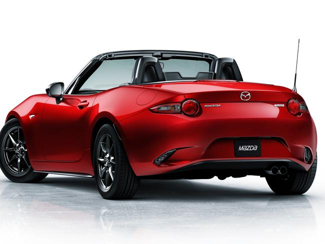Hot wheels ... Mazda has unveiled the new MX-5 convertible.