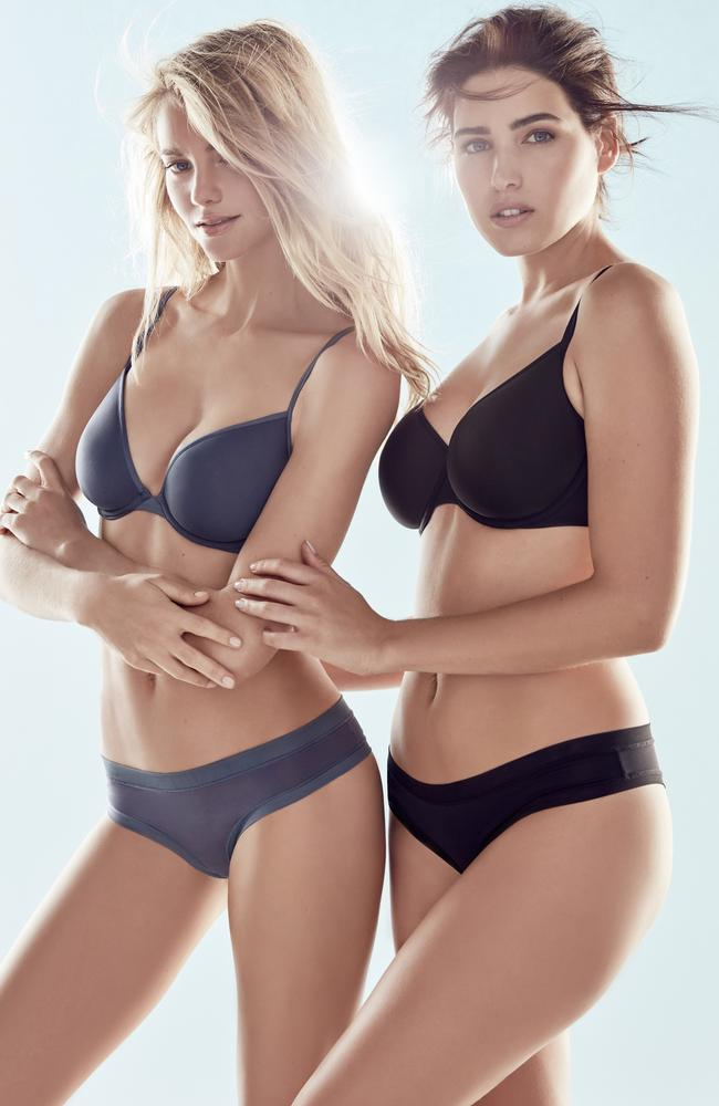 Australian models Elyse Taylor and Tahnee Atkinson look stunning in their new campaign for Bras N Things. Picture: Supplied