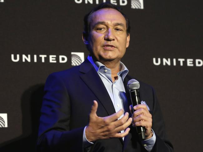 United Airlines CEO Oscar Munoz has been criticised for his response to the incident. Picture: AP