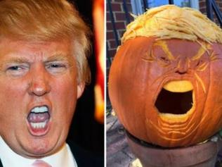 Supplied Americans are carving out Trumpkins for Donald Trump this Halloween