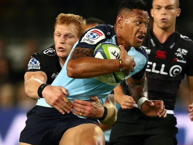 Israel Folau was a stand out in an otherwise ordinary Tahs performance.