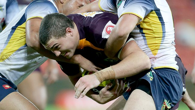 Corey Oates of Brisbane during the Under 20's match between the Broncos and Cowboys at Suncorp Stadium.