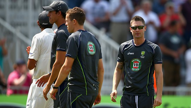 Michael Clarke said the Aussies should hold their heads high despite a heart-breaking loss. Picture: Getty
