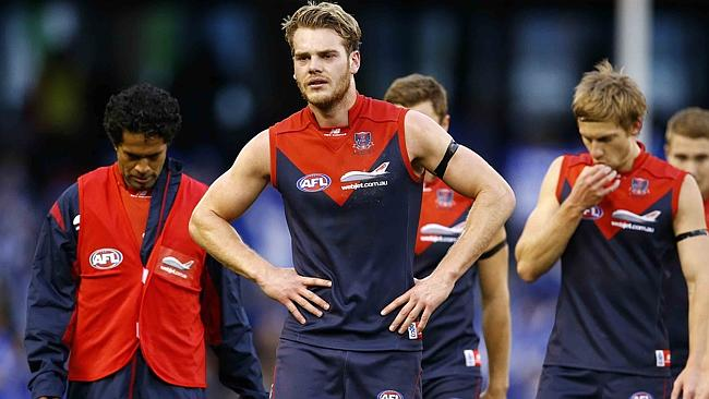 We saw a lot of photos of Jack Watts and Melbourne players like this in 2013.