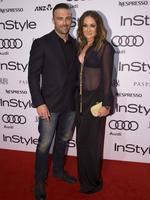 Steve Willis and Michelle Bridges at the 2014 InStyle and Audi Women of Style Awards, The entertainment Quarter, Sydney. (Pictures Justin Lloyd)