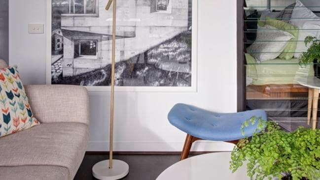 Craig Yelland's flat may be small, but everything has its place and it's located in one of Melbourne's most popular areas. Picture: Supplied