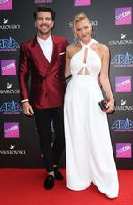 Matt and Jess arrive on the red carpet for the 31st Annual ARIA Awards 2017 at The Star on November 28, 2017 in Sydney, Australia. Picture: Richard Dobson