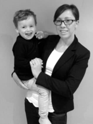 Rachel Perkins, 38, with her son Jake, three.