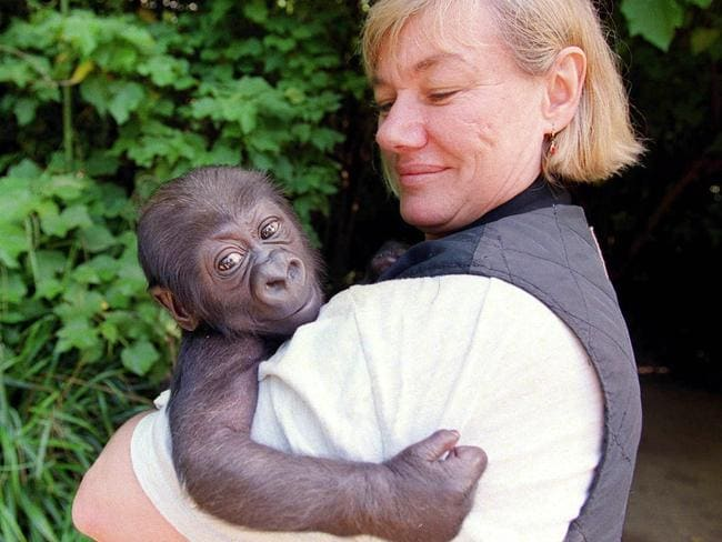Yakini with keeper Ulli Weiher